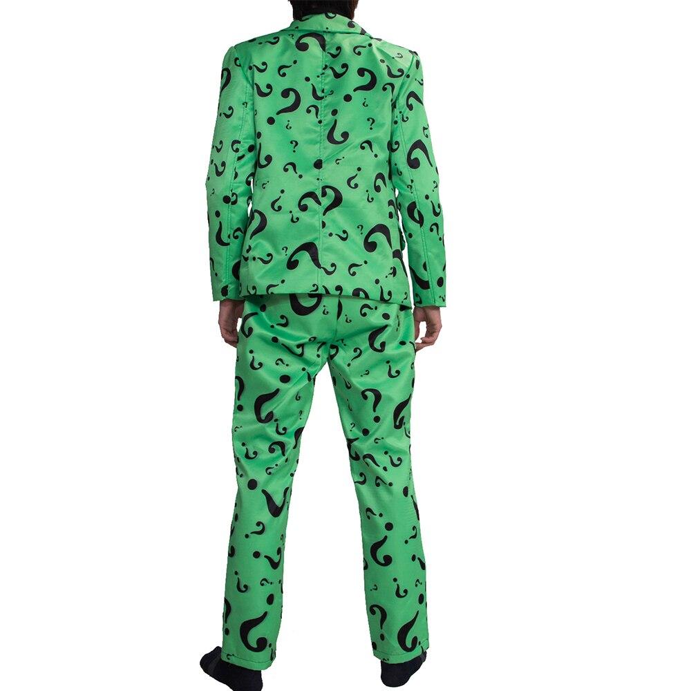 XCOSER Xcoser Riddler traje adulto Mens interrogación patrón trajes ...