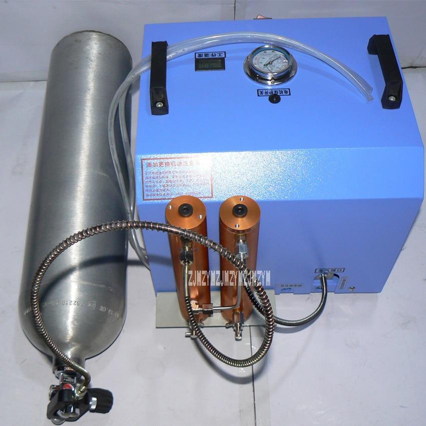 30MPa High Pressure Breathing Air Compressor Electric Inflator Pump 2 cylinder Water cooled Air Compressor 220V 1200W 80L/min