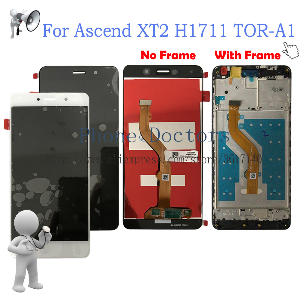 5.5 Inch Full LCD DIsplay + Touch Screen Digitizer Assembly +Frame For Huawei Ascend XT2 H1711 TOR-A1