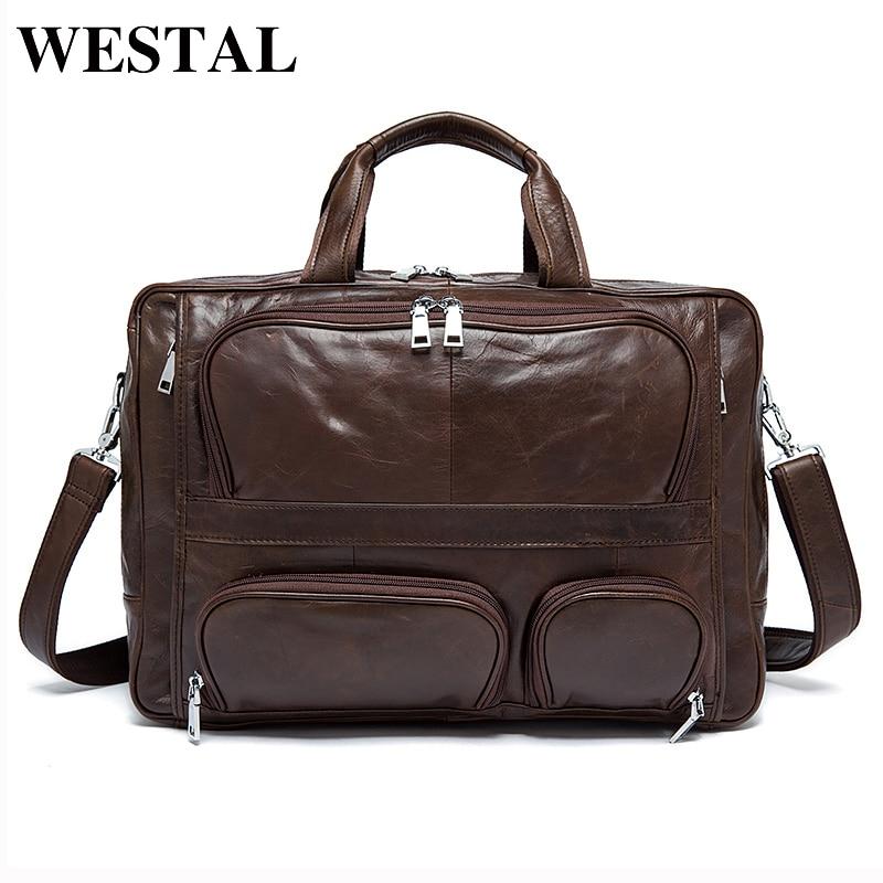 WESTAL Man Bag Genuine Cowhide Leather Men Crossbody Should Handbags Fashion Men's Briefcase Laptop Business Man Tote 8813 what business should i start