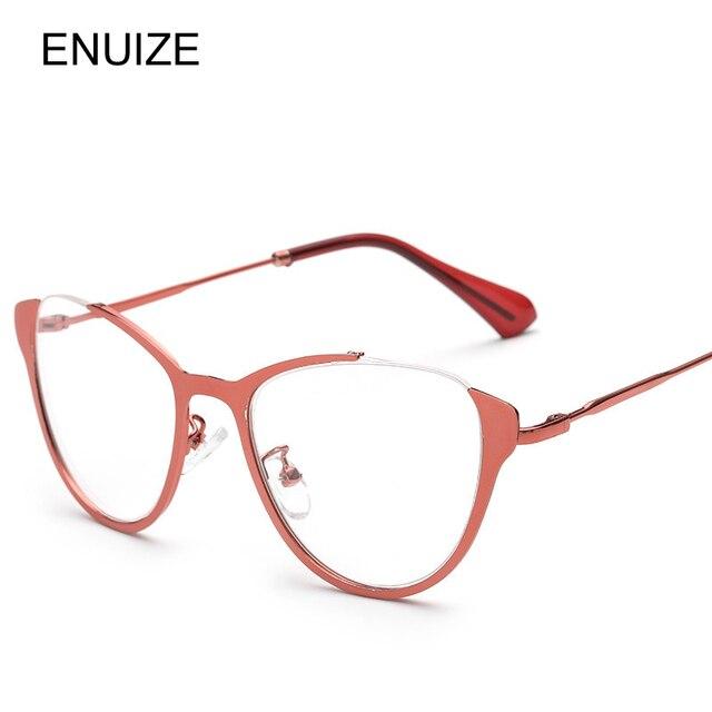 Half Frame Cat Eye Eyeglasses Frames Women Metal Frame Prescription ...