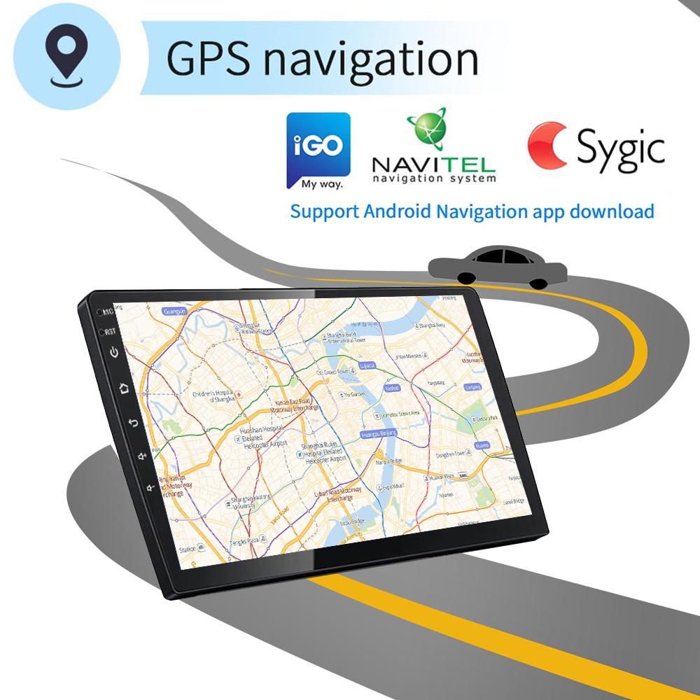 Podofo Android 8,1 автомобильный мультимедийный плеер 2 din 7 ''сенсорный fm радио с Bluetooth gps wifi 1024*600 разрешение экрана - 4