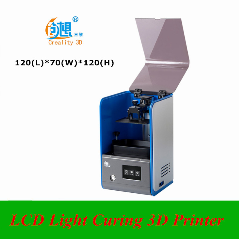 120(L)*70(W)*120(H) CREALITY 3D LCD SLA Light Curing 3D Printer High Precision LCD 3D Printer Can Replace LCD Screen Quickly