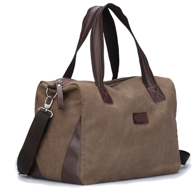 New High Quality Men's Travel Bags Solid Zipper Men Canvas Bag Travel Duffle Bag Bolsa Large Capacity Clutch Tote
