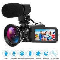 DSLR Microphone Video Digital Camera HDMI Ultra HD 1080P Waterproof DV Camcorder Wide Angle Camera With