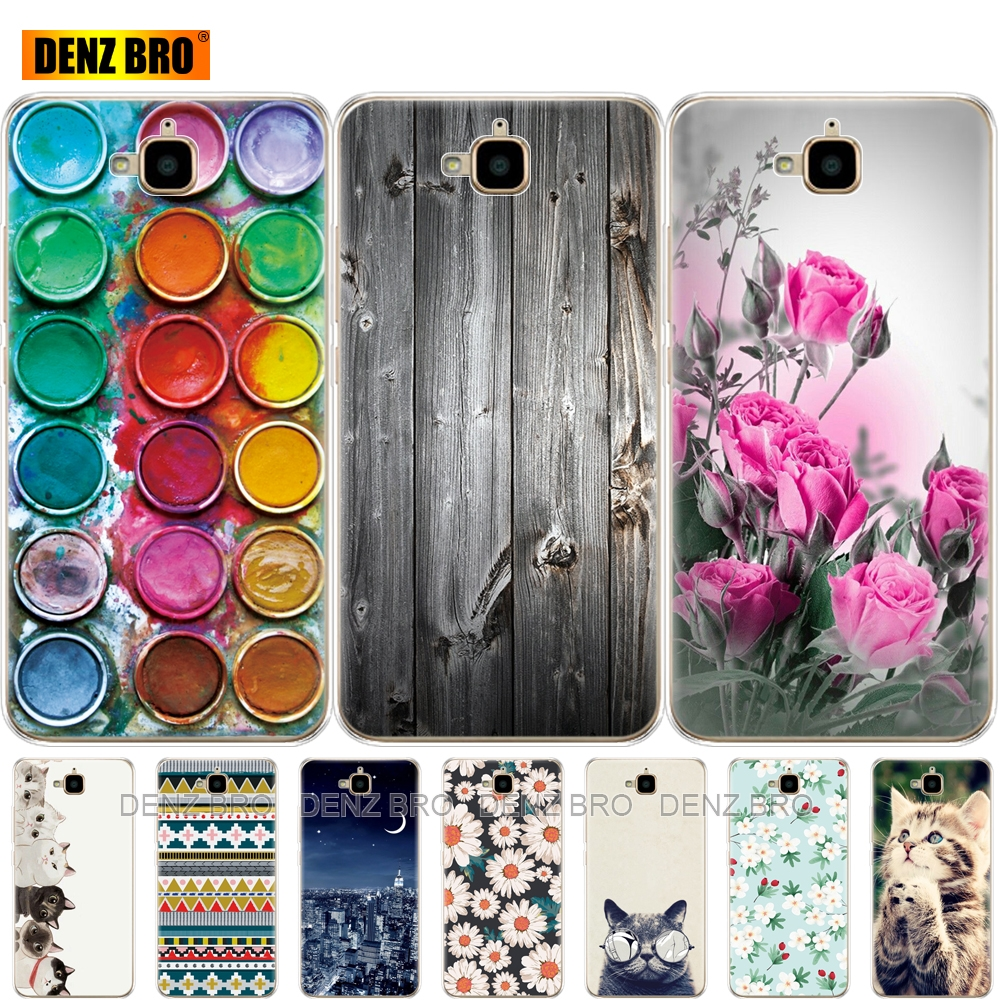Soft Silicone Phone Case For Huawei Honor 4C Pro Honor 4C Pro Cover Soft Tpu Cases For Huawei Y6 Pro 2015 Case TIT-L01 TIT-TL00