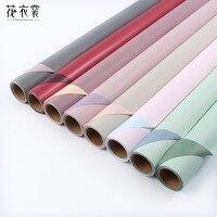 60 см * 10 м один рулон конфеты цвет оберточная бумага для цветов бумажная Роза День Рождения украшения бумага упаковка букета материал