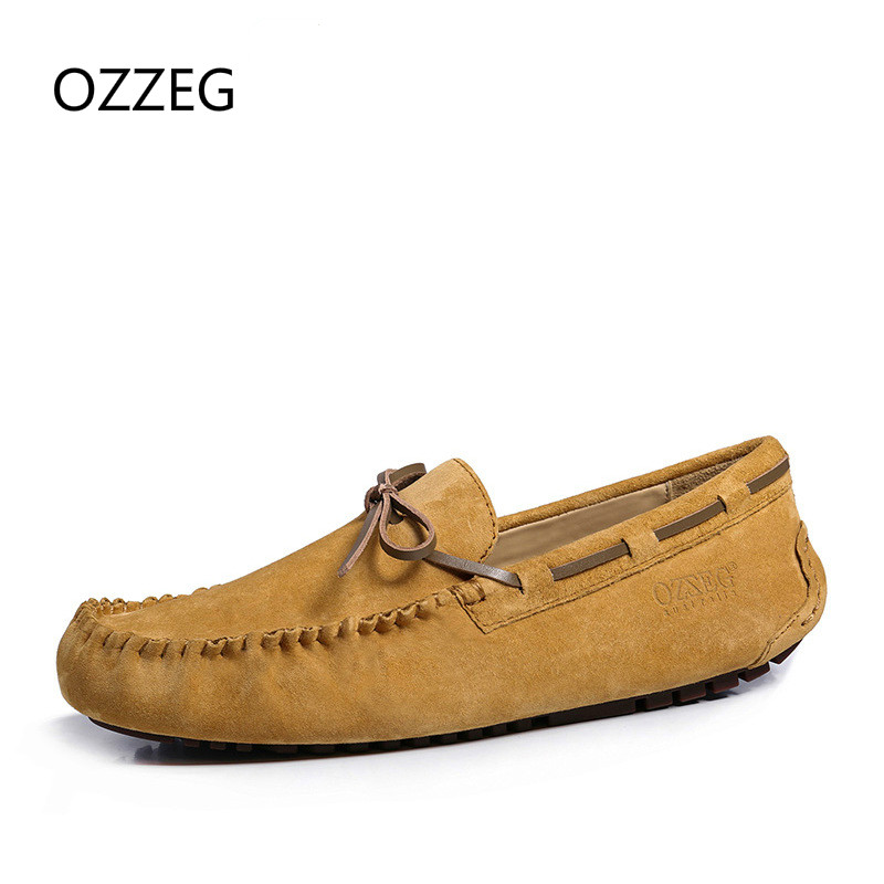 Men Shoes Slip on Casual Men Loafers Spring and Autumn Mens Moccasins Shoes Genuine Leather Men