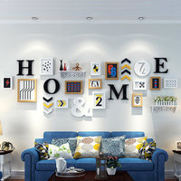 Living Room Photo Wall Photo Frame Creative Photo Hanging Wall Combination Of Nordic Letter Photo Wall Picture Frame home Decor