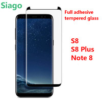 Full Adhesive S8 Tempered Glass S8 Plus Newest Design Protective Film Screen Note 8 Tempered Glass