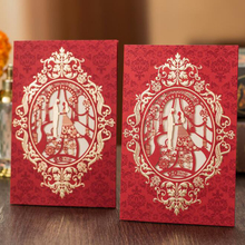 (10 pieces/lot)Unique Personalized & Customized Printing Bronzing Vintage Wedding Palace Wedding Invitation Card Free Shipping