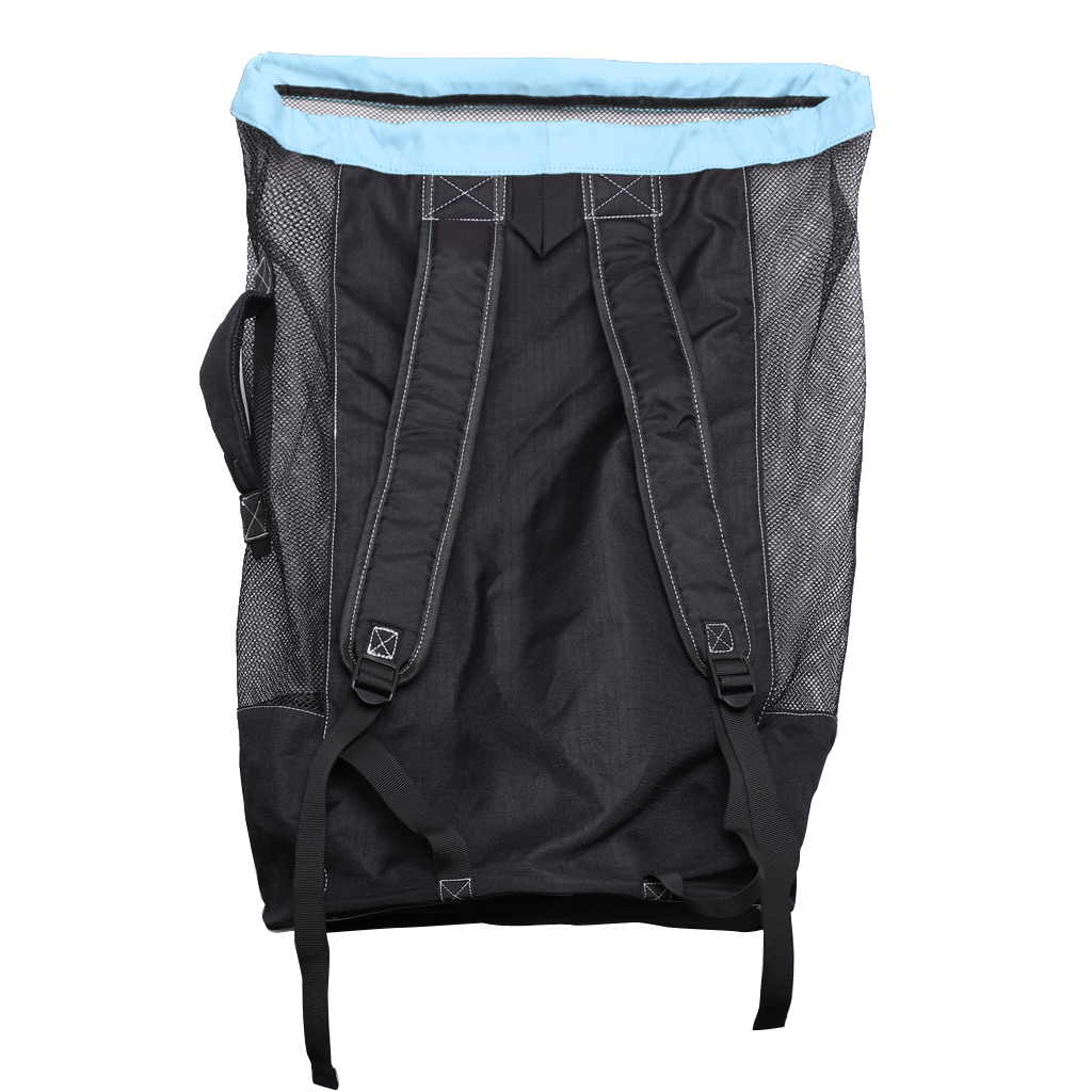 Magideal durável malha mochila deluxe saco de
