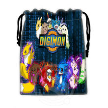 Unique Creative Custom Digimon #9 drawstring bags for mobile phone tablet PC packaging Gift Bags18X22cm SQ00715-@H0291