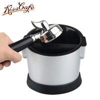 17 × 16 × 11 センチ黒ライナーコーヒータンパーノックボックス深い曲がっデザインコーヒースラグないスプラッシュ手動コーヒーグラインダーアクセサリー