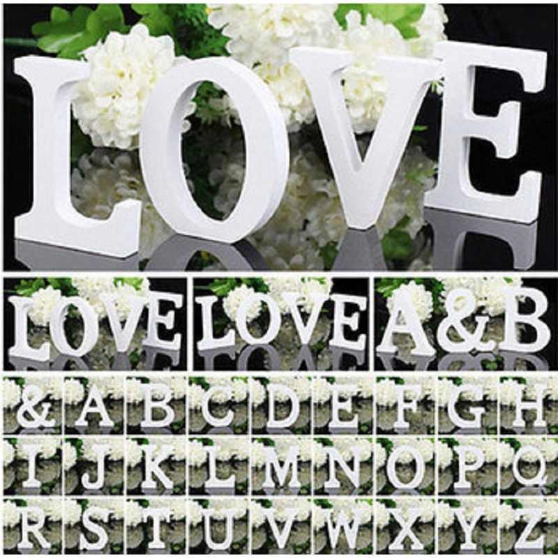 Английские буквы деревянные настенные стикеры s 3D DIY декоративные буквы деревянная наклейка для свадьбы День рождения настенные наклейки домашний декор