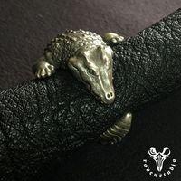 Оригинальный дизайн Аллигатор 925 пробы Серебряное Кольцо Индивидуальные коллекции Классический кольцо в виде крокодила
