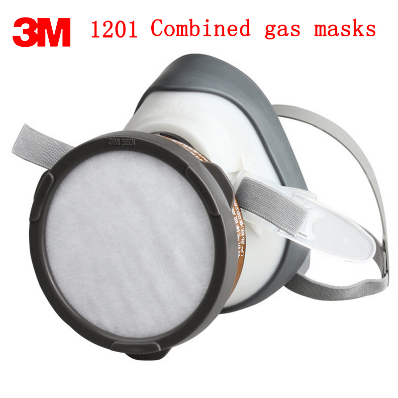 3M 1201 respirator gas mask Genuine high quality respirator face mask Pesticide Paint Organic vapor formaldehyde gas mask high quality respirator gas mask provide silica gel gray protective mask paint pesticides industrial safety mask