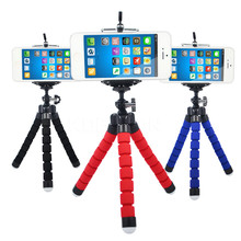 Flexible Tripod Portable Sponge Octopus Tripod Stand Mount With Monopod Holder For Phone Gopro 4 3+ SJ4000 Camera Camcorder