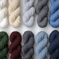 Beautiful 100g 180M/pcs Hot Sale 100% Merino Wool Yarn for Knitting Hand knit yarn Thin Yarns for Shawl Sweater Free Shipping