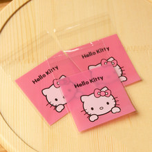 100Pcs lot 10cm Cute Gifts Bags Hello Kitty Cookie Packaging Self-adhesive  Plastic Bags For Biscuits Candy Food Cake Package 2D d038d33608245