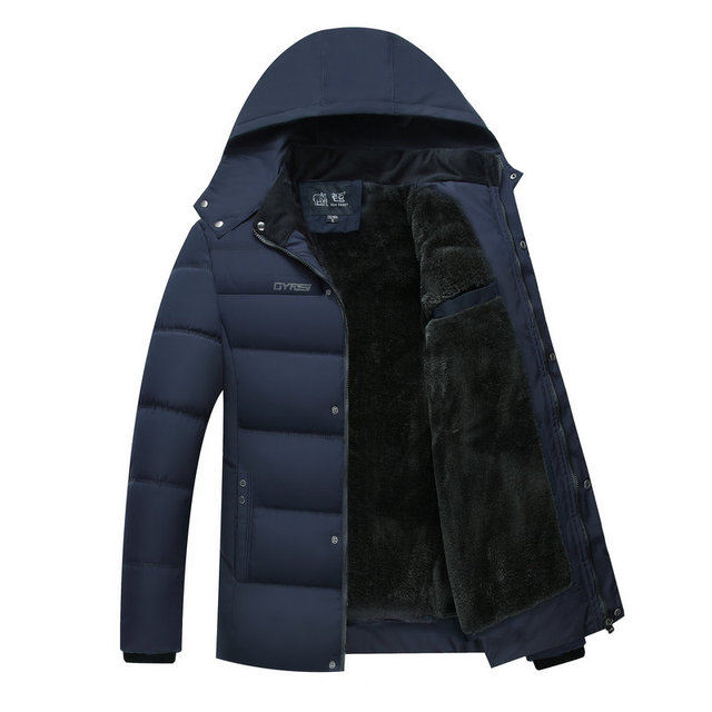 Best Price 2018 Hot Fashion Hooded Winter Jacket Men Warm Parka Solid Casual Thick Middle-aged Mens Winter Jackets Coats