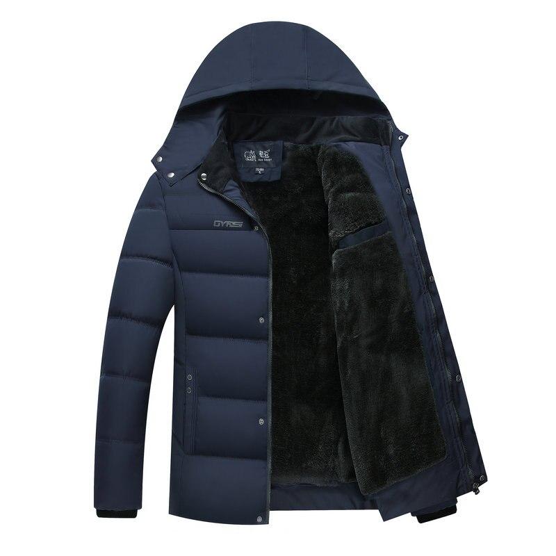 2018 Heißer Mode Mit Kapuze Winter Jacke Männer Warme Parka Feste Beiläufige Dicken Mittleren Alters Herren Winter Jacken Mäntel