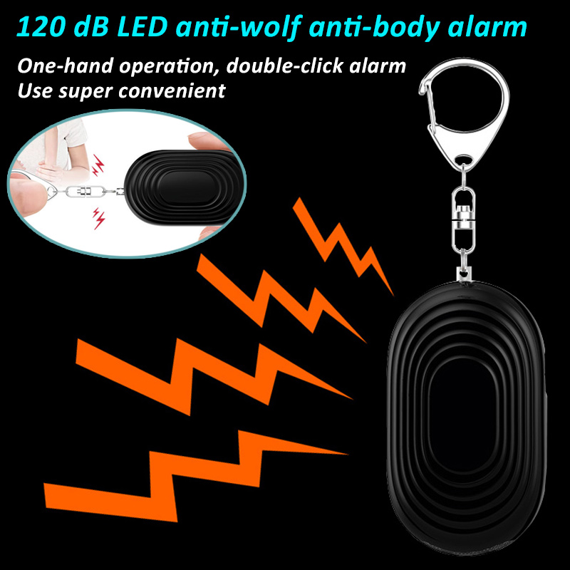 Mini Self Defense Personal Alarm Keychain Emergency Alarm with LED Light for Women Children Elderly LCC77 ce rohs wireless gsm emergency alarm system medical aid alarm system 16 defense zone emergency aid for elderly children