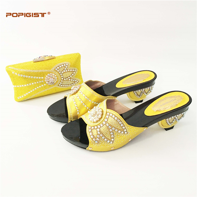 b9d74775001d Gold Global free DHL express Fashion Simple Rhinestone Pumps Shoe And Bag  Set For Party 8CM HEEL lady evening Shoes And Bag Set-in Women s Pumps from  Shoes ...
