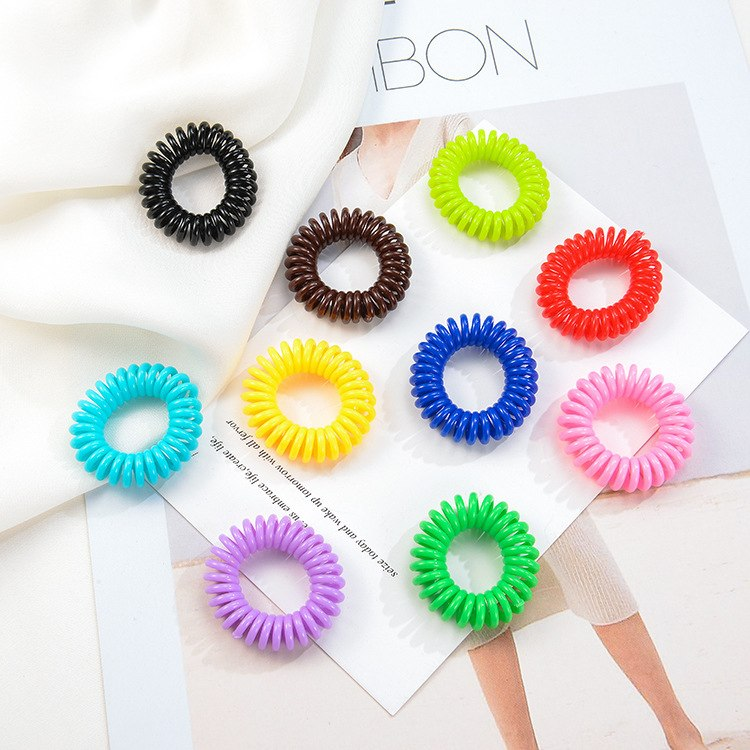 10PCS/Lot New 2.5 cm Elastic Hair Bands Scrunchie   Headwear   Colorful Rope Spiral Shape Hair Ties Gum Hair Styling Braiding Tools
