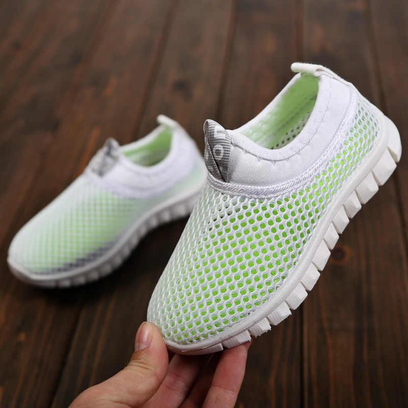 KRIATIV 2018 เด็กใหม่รองเท้าผ้าใบฤดูร้อนสีขาวรองเท้าสำหรับสาว Boy Breathable ตาข่ายเด็กทารกสบายๆรองเท้าแฟชั่นนุ่ม