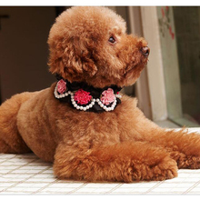 Fashion Flower Pearls Jewelry Necklace for Dogs