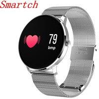 Smartch חכם צמיד CF007S חכם שעון קצב לב לחץ דם חכם צמיד מד צעדים כושר גשש חכם להקת PK mi b-בצמידים חכמים מתוך מוצרי אלקטרוניקה לצרכנים באתר