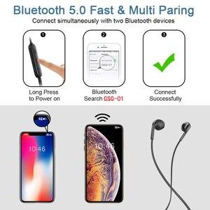Image 2 - GUSGU шейным Bluetooth наушники с микрофоном беспроводной стерео Auriculares динамик для iPhone huawei беспроводные наушники