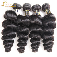 Joedir Pre colored Raw Indian Hair Loose Wave Human Hair Bundle Deals 3 Bundles Remy Natural Color Hair Weave Free Shipping