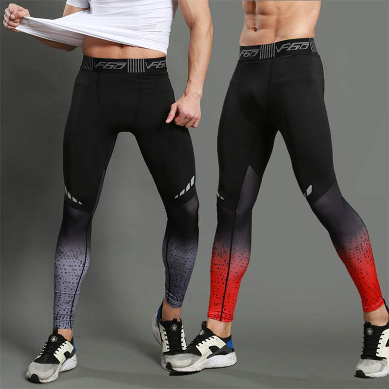 Mens Running Pants GYM Fitness Compression Pants Running Tights Men Quick Dry Sport Trousers Jogging Skinny Leggings Sportswear