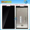 100% испытанное Черный Полный ЖК-Дисплей с Сенсорным Экраном Digitizer Стекло Ассамблеи Для Lenovo Tab 2 A7-30 A7-30HC Бесплатная Доставка