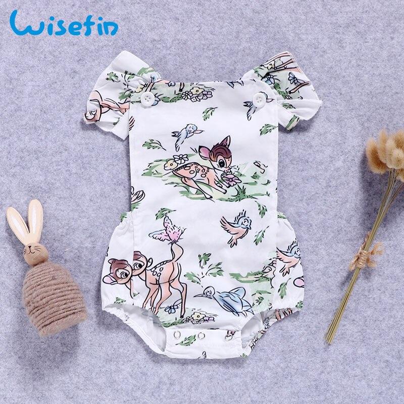 Wisefin Baby κορίτσια Καλοκαίρι Κοντό μανίκι Νήπιο Ένδυση Νεογέννητο ... b8de3ae1e2a