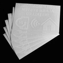 Safurance 6xMobile сигнализации с мониторингом Системы установлен Предупреждение знак внутренний Стикеры 130x87 мм домашней безопасности