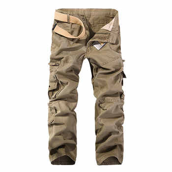2018 Top Fashion Solid Cotton Cargo Pants Men Casual Slim Workout Men Trousers Multi-pocket - DISCOUNT ITEM  25% OFF All Category