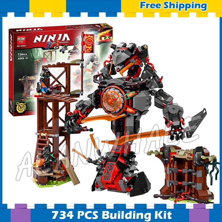 734pcs Ninja New 10583 Dawn of Iron Doom DIY Model Building Kit Blocks Toys Playset Compatible with <font><b>Lego</b></font> image