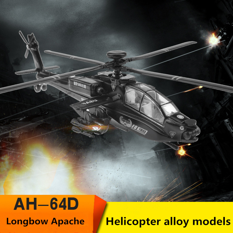 1:72 Helicopter Alloy Models,high Simulation Longbow Apache Military Model, Metal Diecasts,children's Favorite Toy,free Shipping