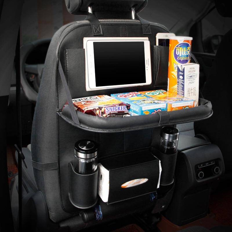 Cuero Asiento trasero del coche Organizador Bolsillos Plegable - Accesorios de interior de coche - foto 2