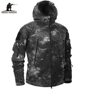 Image 1 - Mege Marke Herbst Winter Military Fleece Camouflage Taktischen männer Kleidung Polar Warme Multicam Armee Männer Mantel Outwear Hoodie