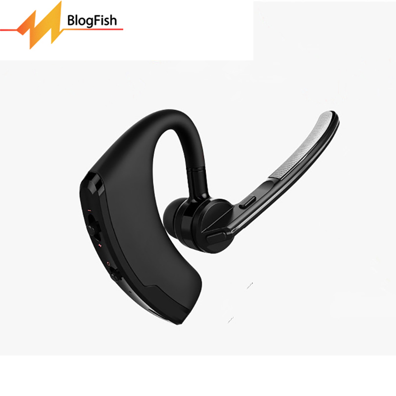 Blog.Fish Wireless V4.0 Bluetooth Commerce Headphones Bluetooth Headset Car Driving Handsfree Earphone With Mic For Cell Phone bq 638 car charger bluetooth v4 1 wireless headphones earphone headset for car color black white