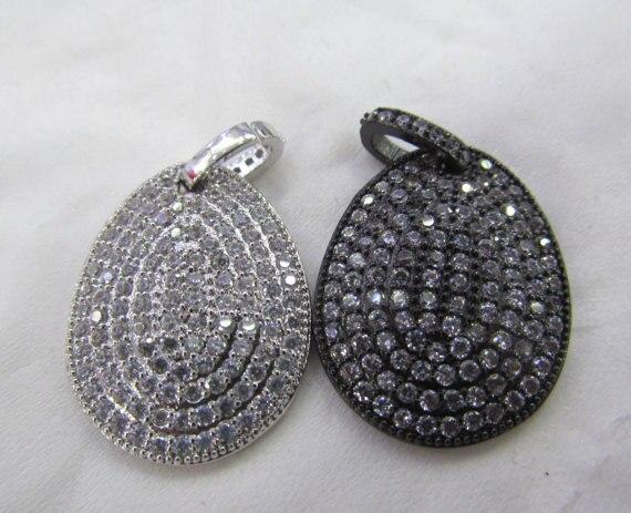 6pcs 22x35mm Micro Pave Diamond Black Pendant , Pave Diamond CZ Connector Jewelry Teardrop Drop Gunmetal Jewelry Focal Bead лопатка black diamond black diamond micro adze