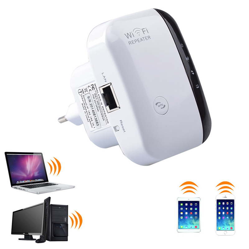 TEROW Wireless wifi Repeater Signal Amplifier 2.4G Wifi 802.11N/B/G 300Mbps Network Wi-fi Range Extander Antenna Repetidor wps