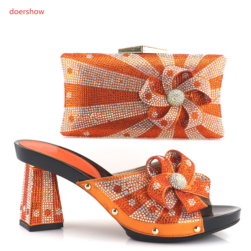 doershow Italian lady Shoe and Bag Set High Quality African Women Wedding Shoes and Bag Set Nigerian Party Shoes and Bag!HV1-34 italian berlitz reference set
