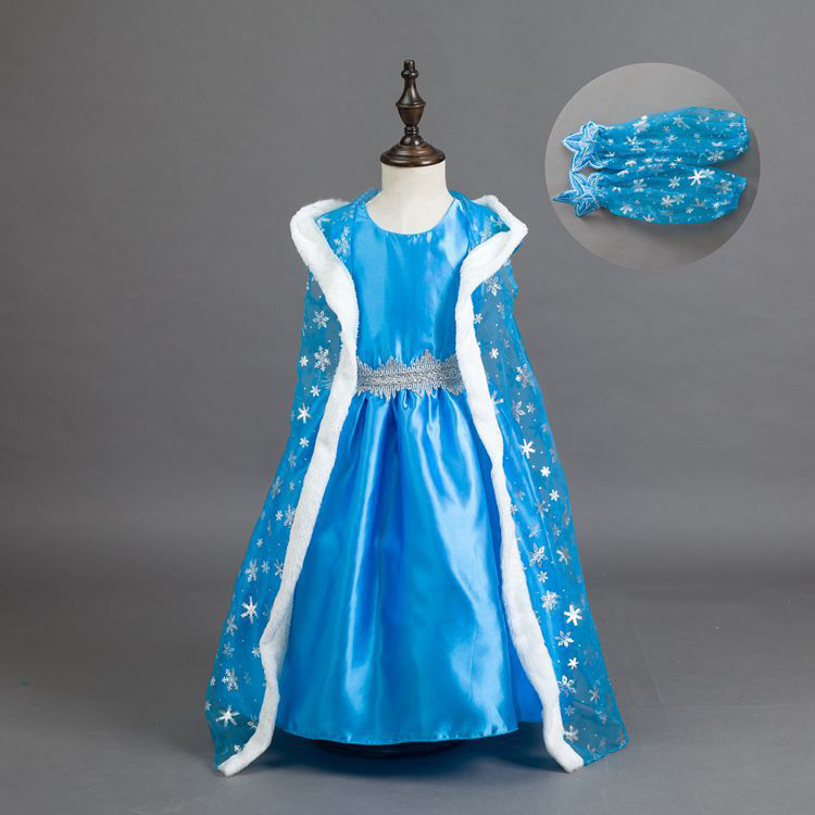 Fashion Kids Dresses for Girls Children Costume Princess Elsa Party Wear Dresses Girls Christmas Clothes Child Party Dress 2016 top fashion linen elsa dress kids dresses for girls practise the new child girls condole belt latin dance 1986 jazz stage