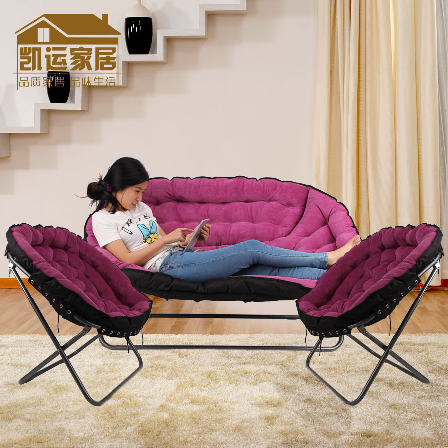 Three piece sofa chair folding chair leisure chair bedroom