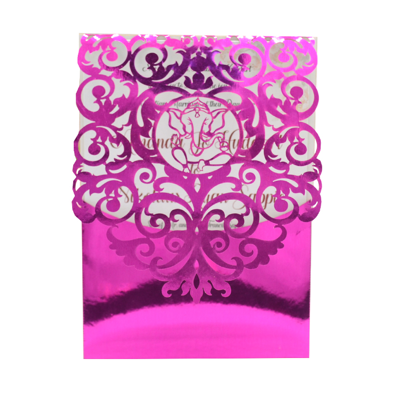 Us 27 0 Ganesh Chaturthi Invitation Card Wedding Laser Cut Card Indian Wedding Invitation Cards In Cards Invitations From Home Garden On